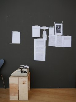 Project by Maria Fjell att the exhibition, Black Mountain, HBM, Berlin. Photo: Agustín Ortiz Herrera.