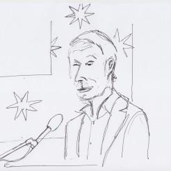 James Elkins drawn by Nikolaus Baumgarten.