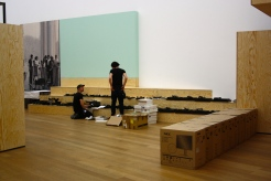 "Deinstalling of the exhibition ""Black Mountain. Ein interdisziplinäres Experiment 1933-57"", Hamburger Bahnhof - Museum für Gegenwart - Berlin."